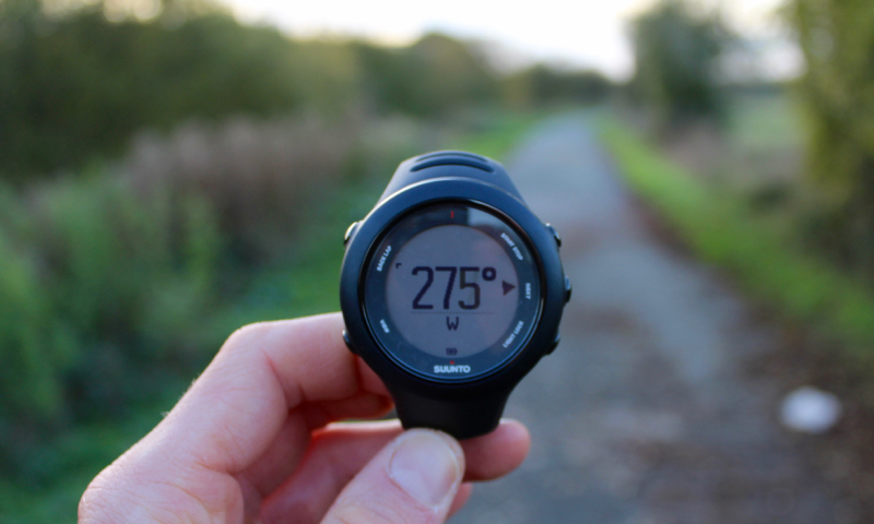 compass on ambit 3 sports watch suunto