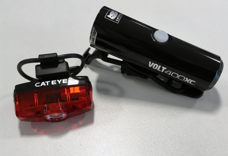 cateye volt 400xc and rapid mini lights set