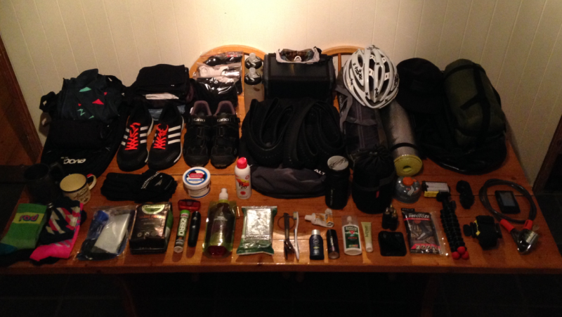 cycle touring kit choices