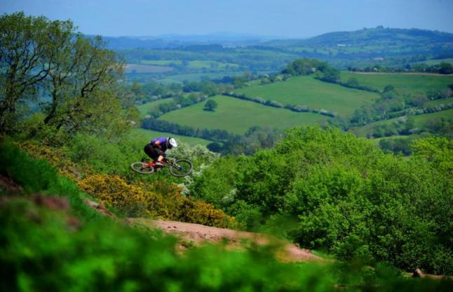 Mountain biker in the Black Mountains Cycle Centre