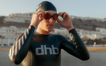 man wetsuit goggles