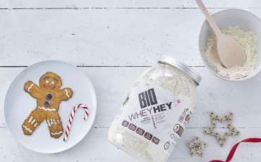 Gingerbread man oatmeal cookies with coconut protein powder recipe