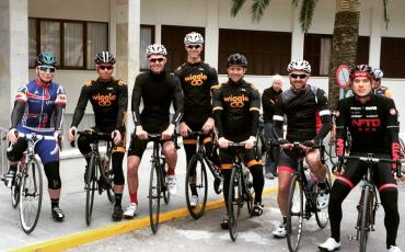 Team Wiggle members posing for a group picture