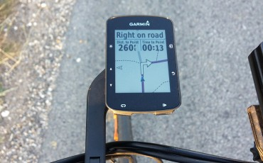 Discovering new roads with the Garmin 520 Plus