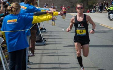 man running in endurance event