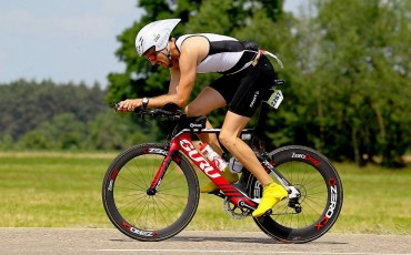 David competing in a IRONMAN