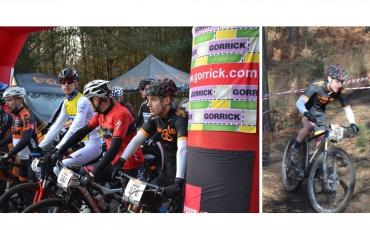 split image of James Braid racing for Team Wiggle