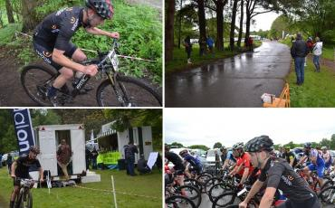 Images of James Braid racing in the Southern XC race series