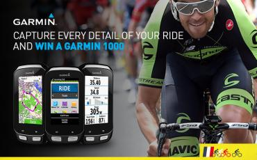 image of cyclist and garmin computers graphic