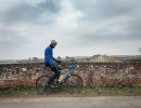 cyclist, bike, bridge, scenery