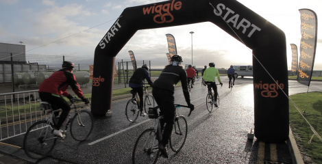 image of start line for a Wiggle sponsored event