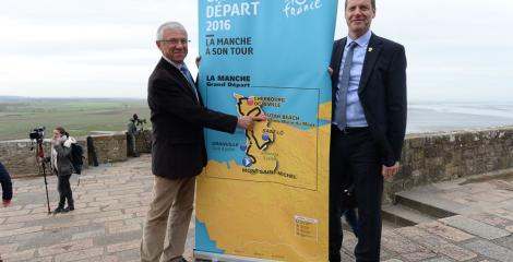Tour de France route map image